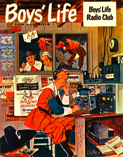 Boys' Life QSL from the 1950s or 1960s