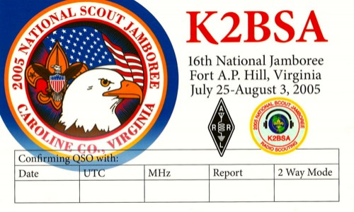 K2BSA 2005 QSL Front copy